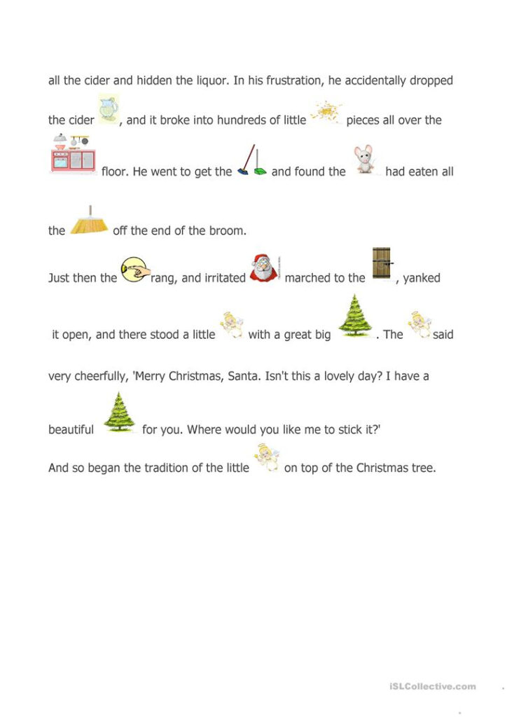 A Christmas Story   English Esl Worksheets For Distance