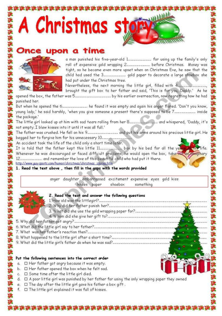 A Christmas Story   Esl Worksheetpatties