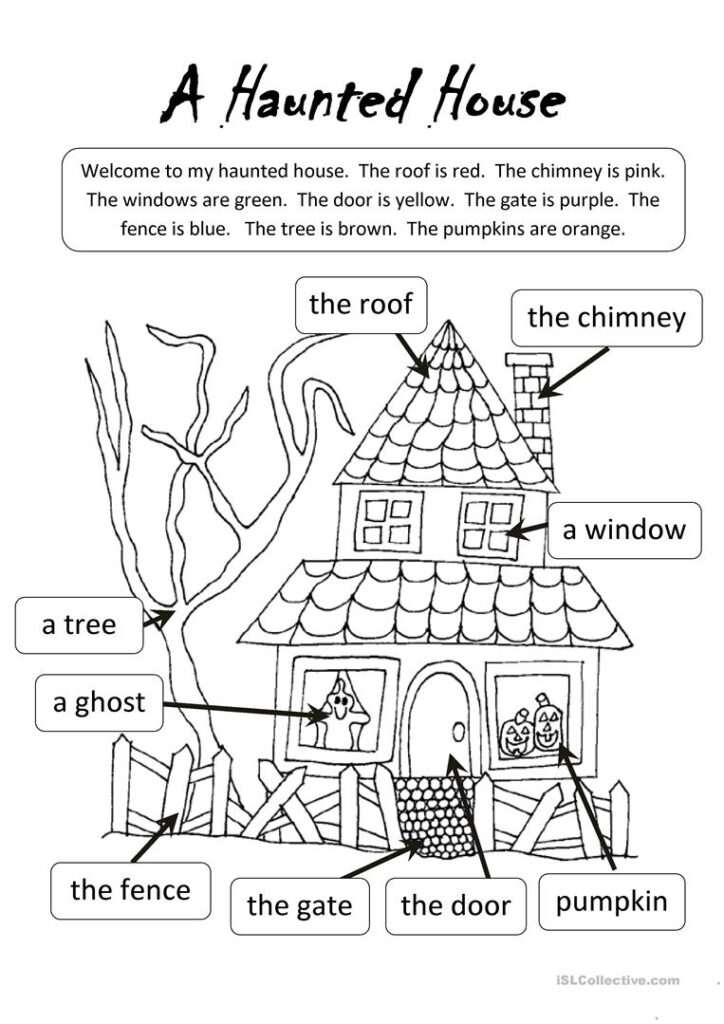A Haunted House   English Esl Worksheets For Distance