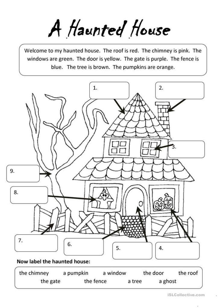 A Haunted House Worksheet   Free Esl Printable Worksheets