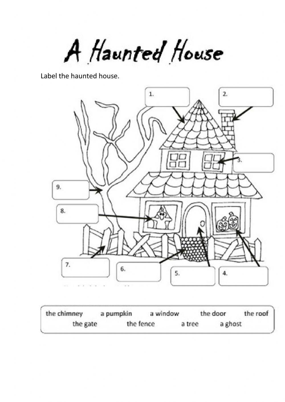 A Haunted House Worksheet