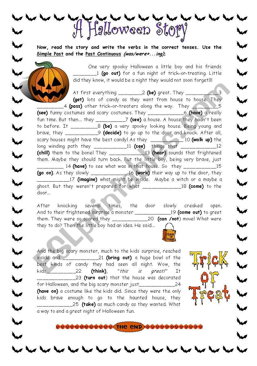 A Scary Halloween Story - Esl Worksheetwizardesl