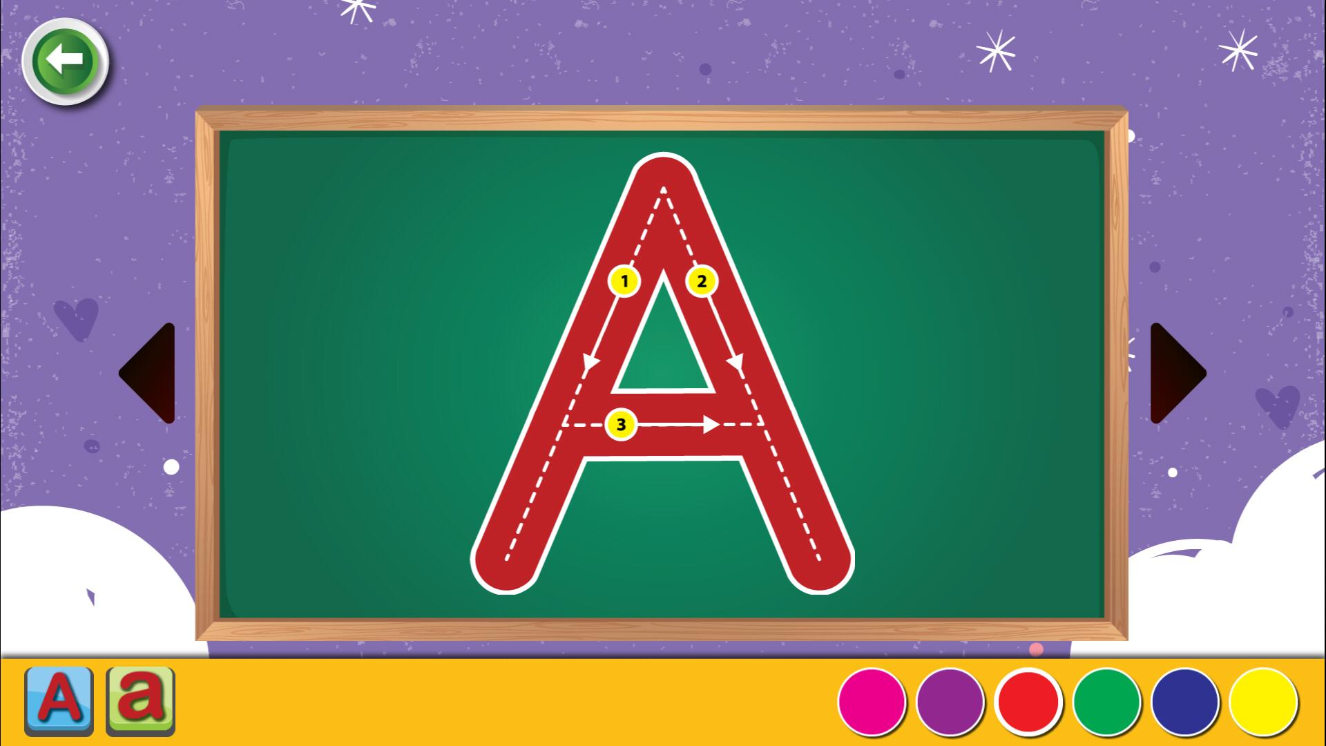 Abc Letter & 123 Number Tracing Games For Kids For Android intended for Alphabet Tracing Game App