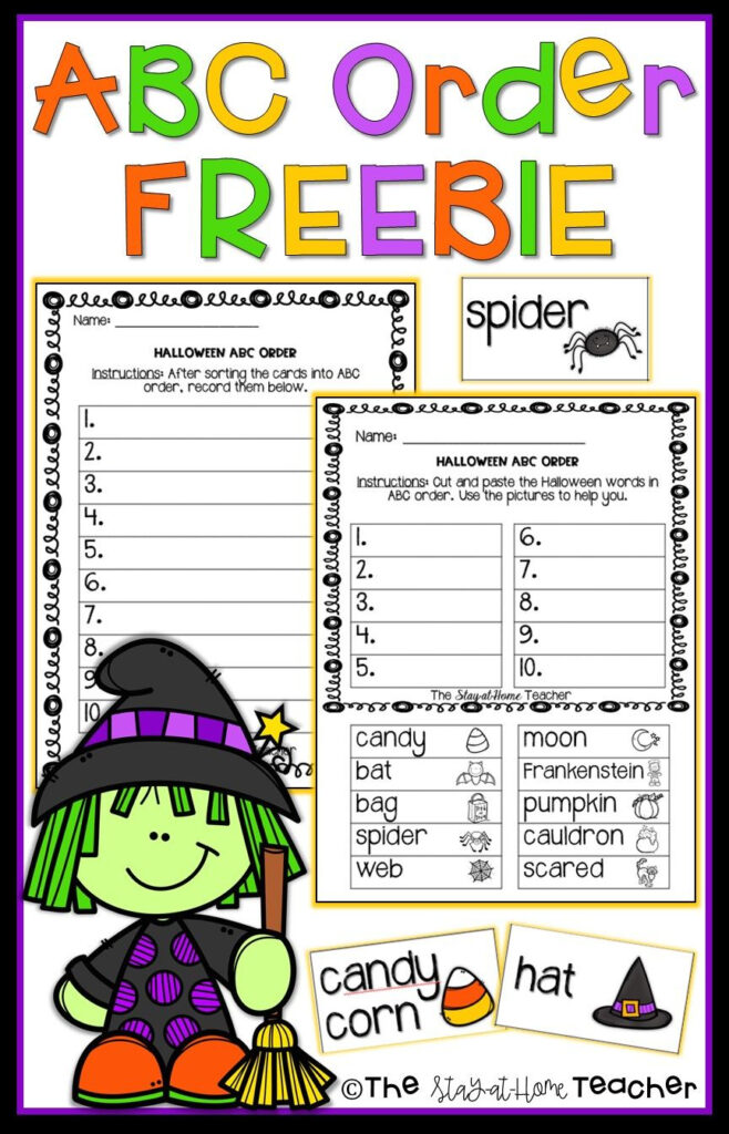 Abc Order Halloween | Abc Order, Halloween Words, Halloween