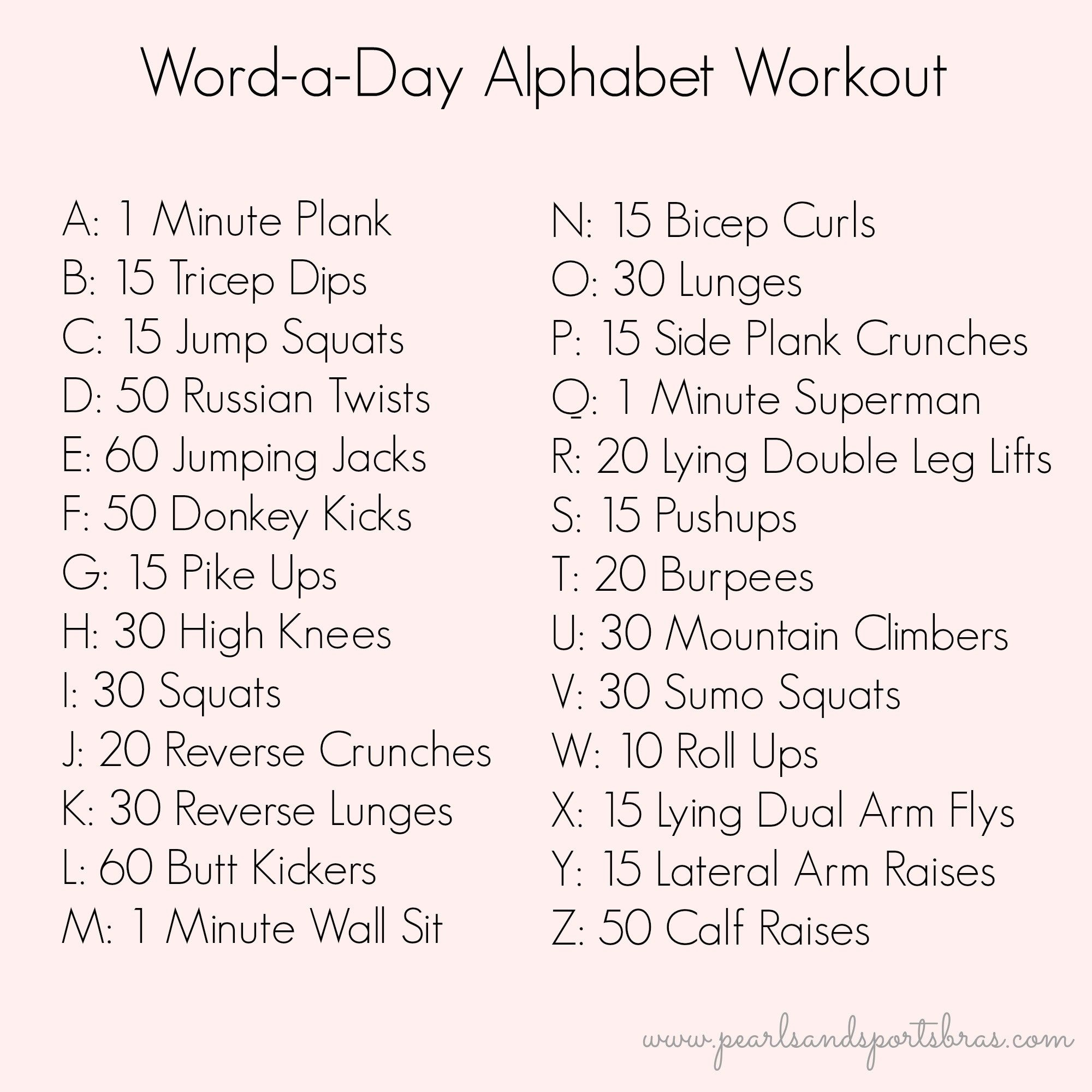 Account Suspended | Alphabet Workout, Workout Challenge intended for Alphabet Exercises Workout