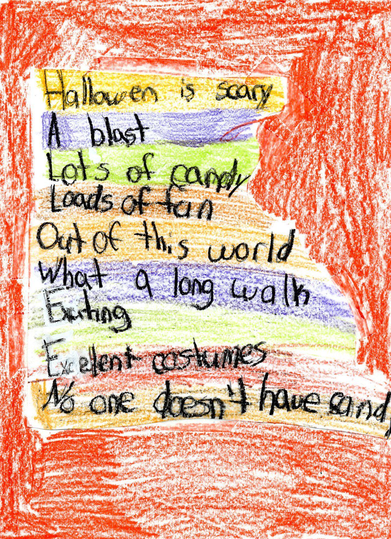 Acrostic Halloween Poem Examples   Halloween Acrostic Poems