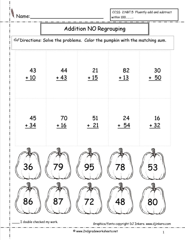 Adding And Subtracting Fractions Test Printable Mixed Review