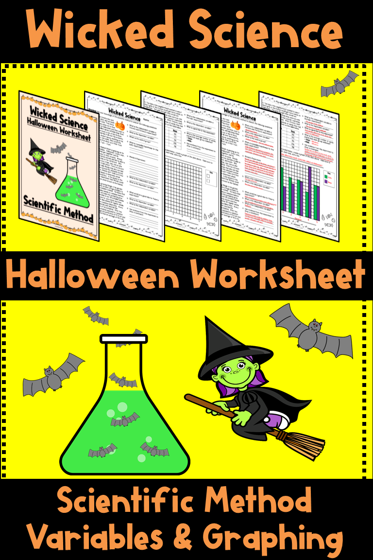Adorable Halloween Themed Scientific Method Worksheet
