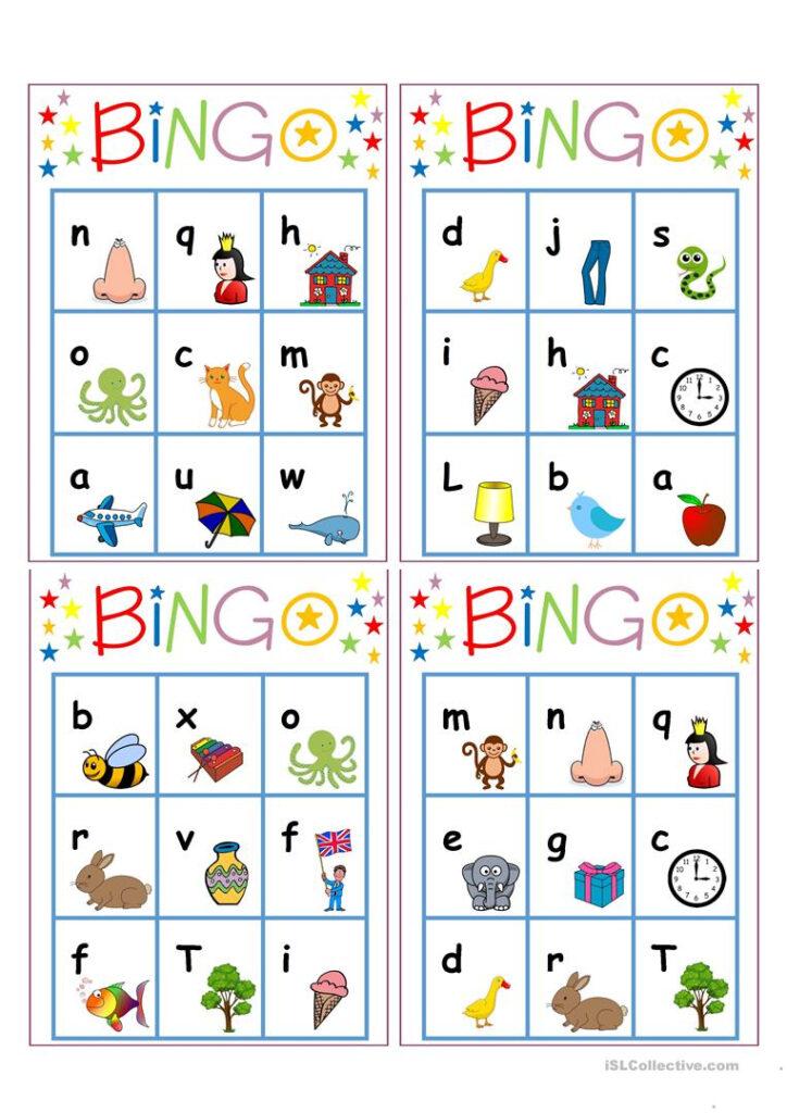 Alphabet Bingo   English Esl Worksheets For Distance Intended For Alphabet Exercises Esl