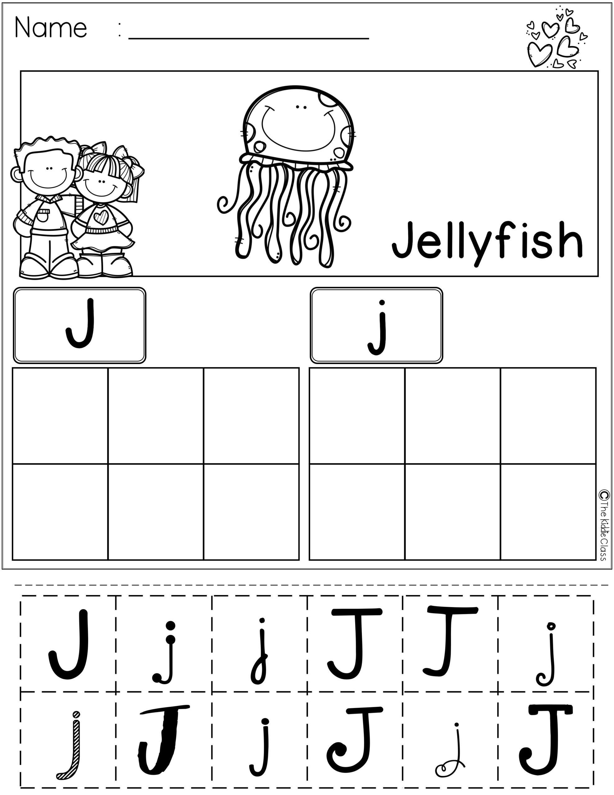 Alphabet Cut And Paste Worksheets Best Preschool Spring