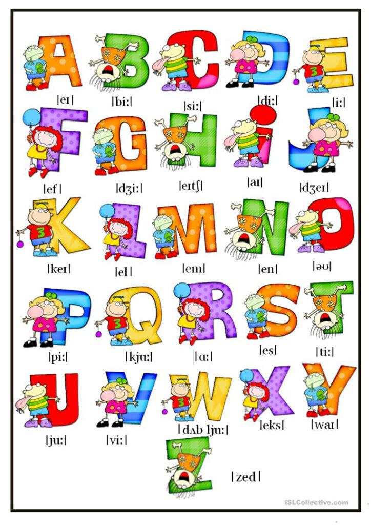 Alphabet   English Esl Worksheets For Distance Learning And Intended For Alphabet Exercises Esl