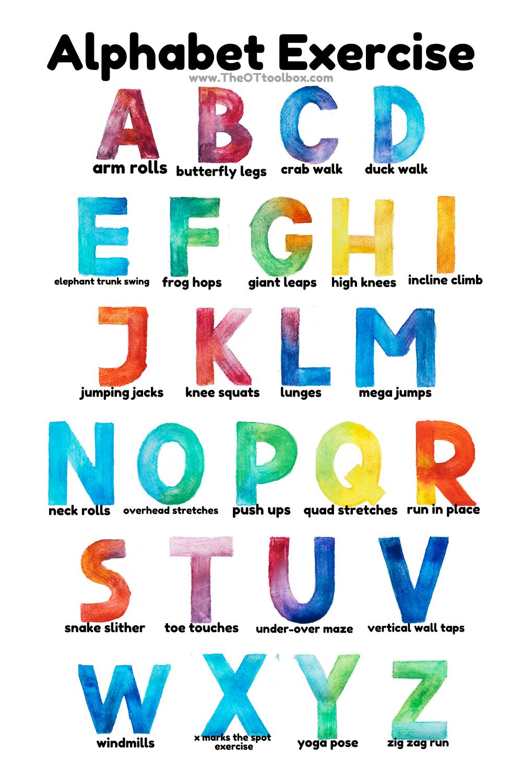 Alphabet Exercises For Kids - The Ot Toolbox regarding Alphabet Exercises Workout