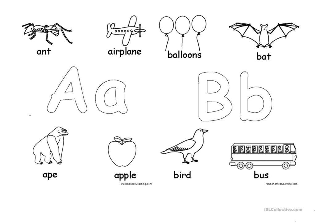 Alphabet For Coloring   English Esl Worksheets For Distance Regarding Alphabet Worksheets Coloring