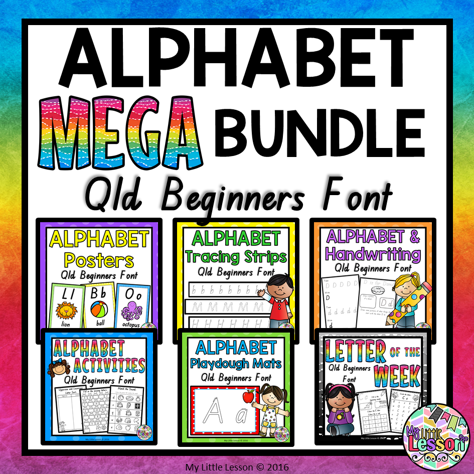 Alphabet Mega Bundle Qld Beginners Font