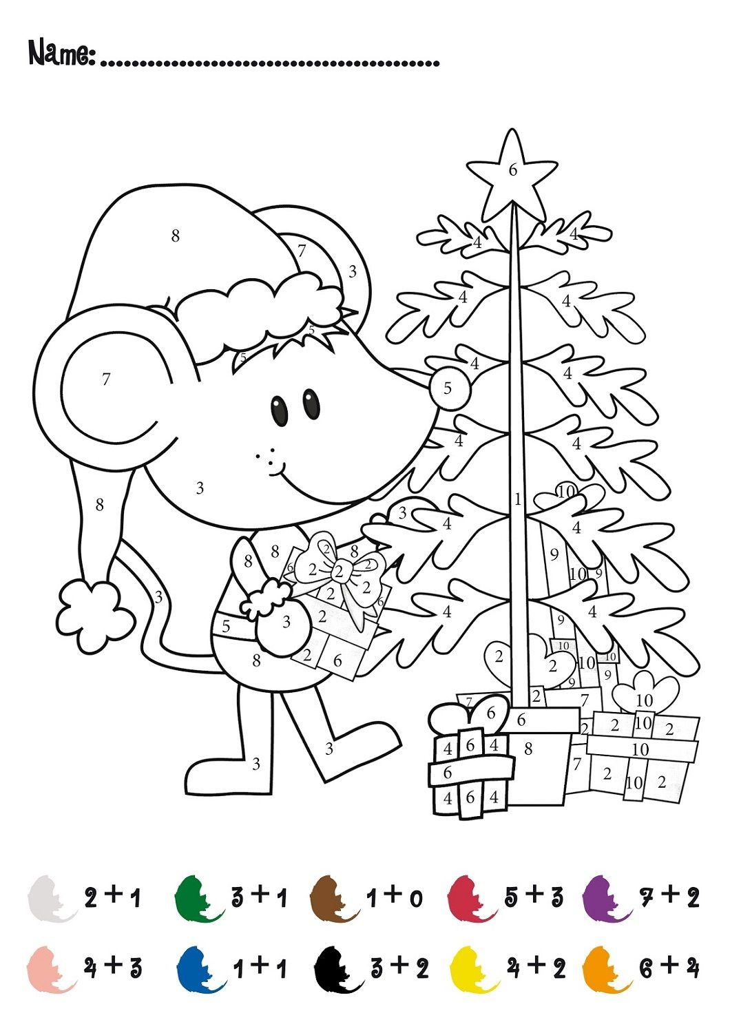 Amazing Multiplication Coloring Sheets Puzzles Christmas