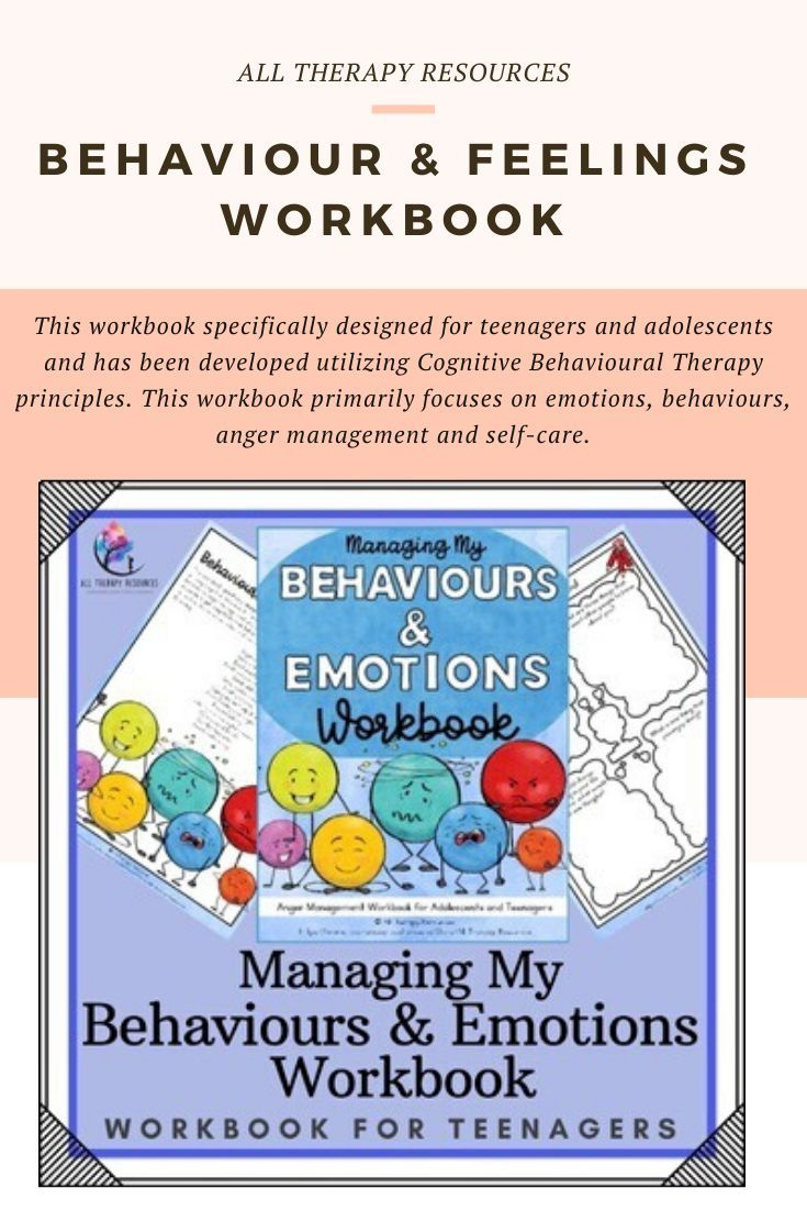 Anger Management Activities For Teenagers: A Workbook For