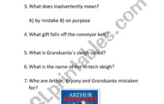Arthur Christmas – Esl Worksheetrichbreeze1