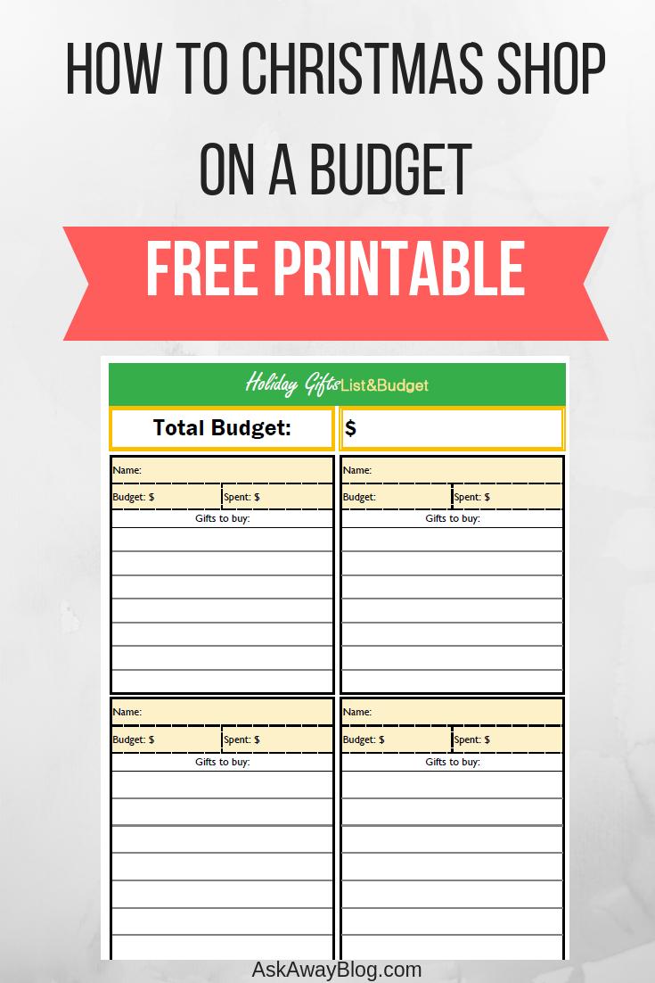 Ask Away Blog: How To Christmas Shop On A Budget | Free