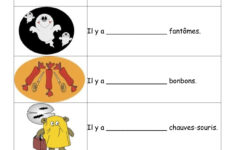French Halloween Activities Worksheets