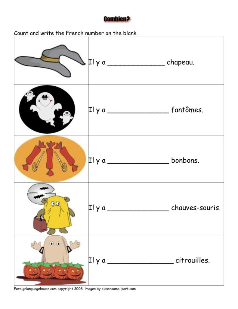 Authentication Required   Halloween Worksheets, French