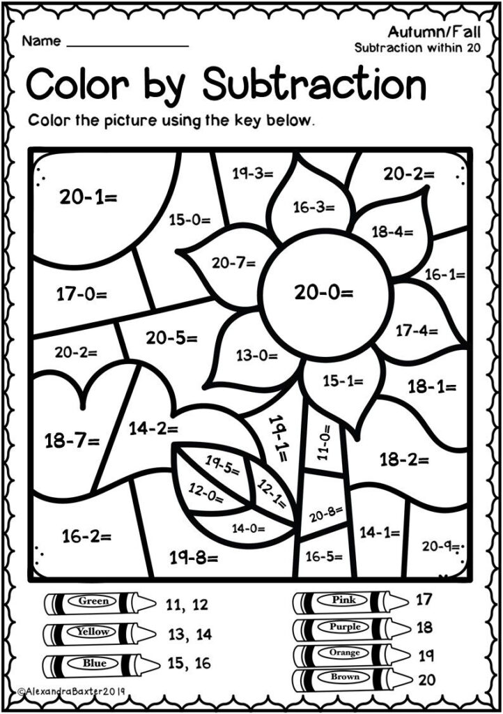 Autumnfall Colorsubtractioneets With Images 1St Grade