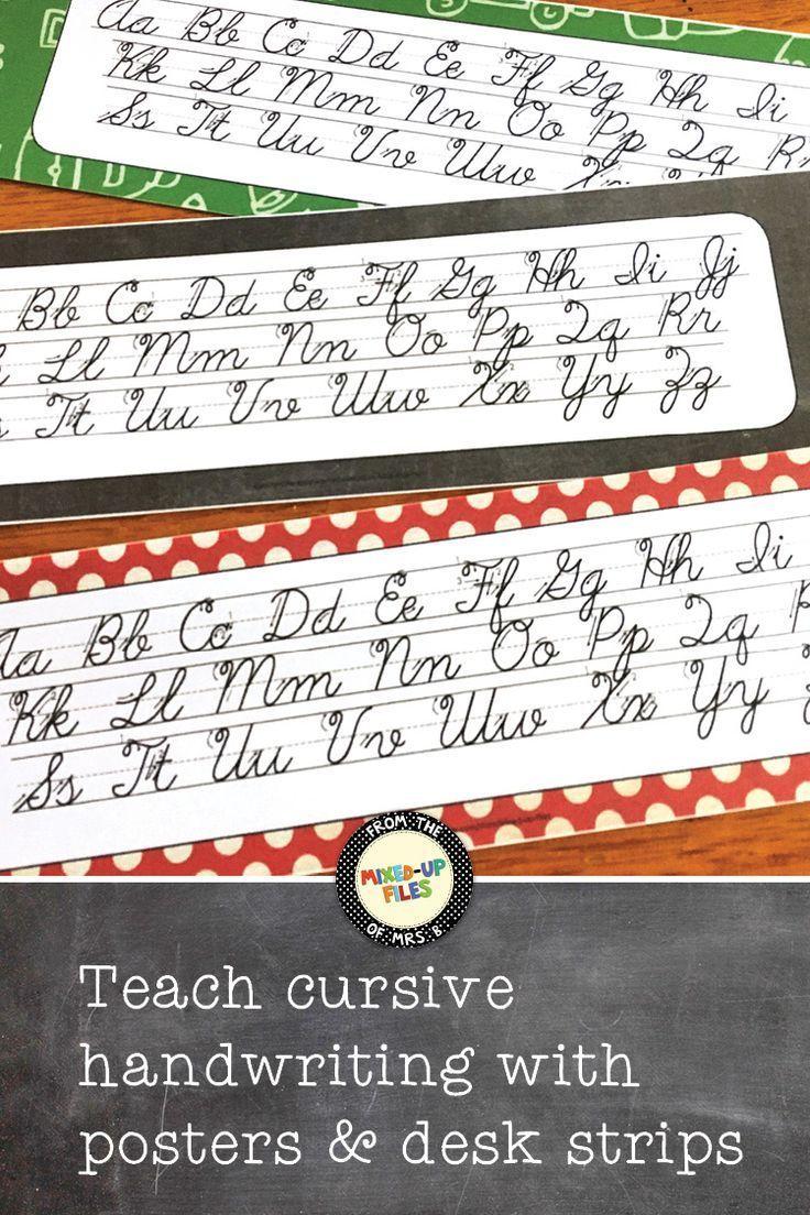 Back To School Cursive Alphabet Banner | Cursive Alphabet