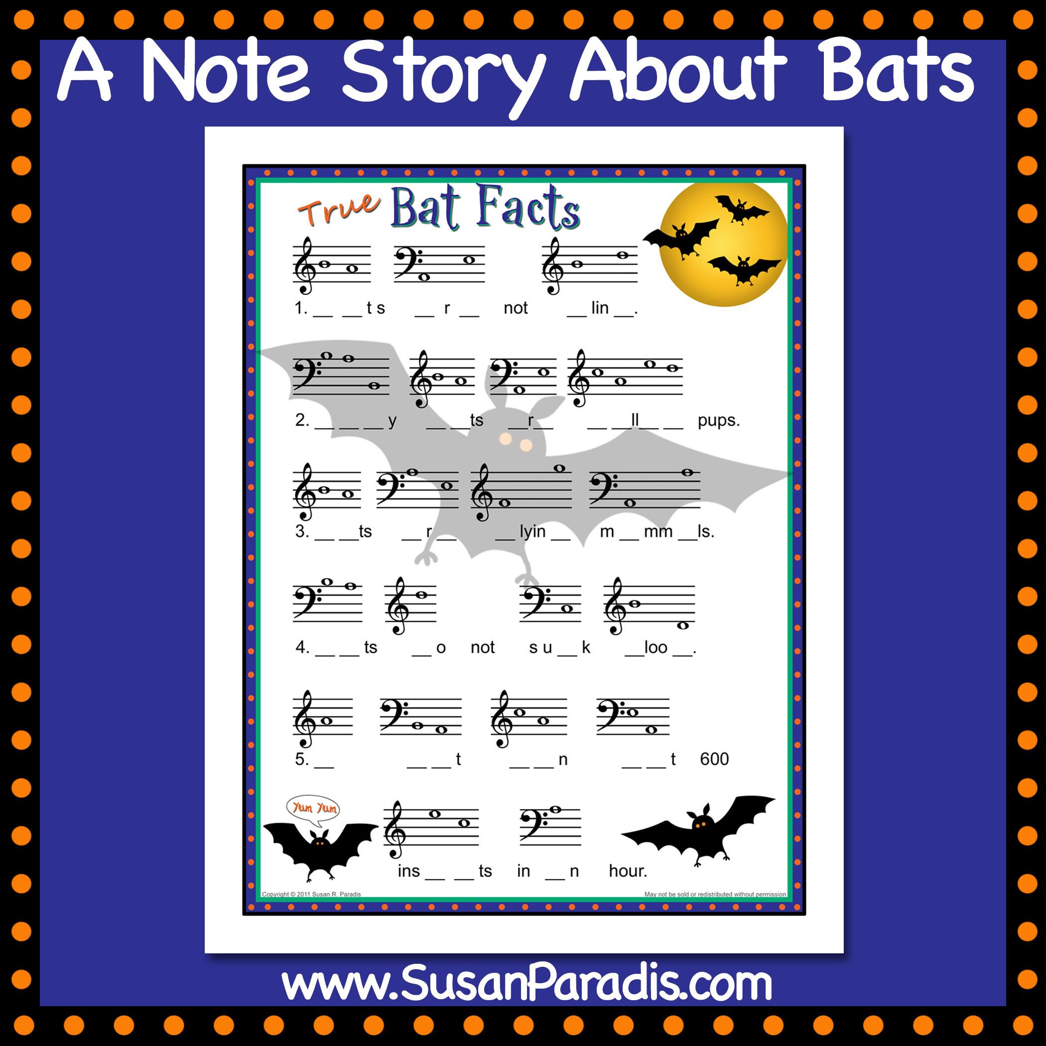 Bat Facts – A Note Story About Bats! – Susan Paradis Piano