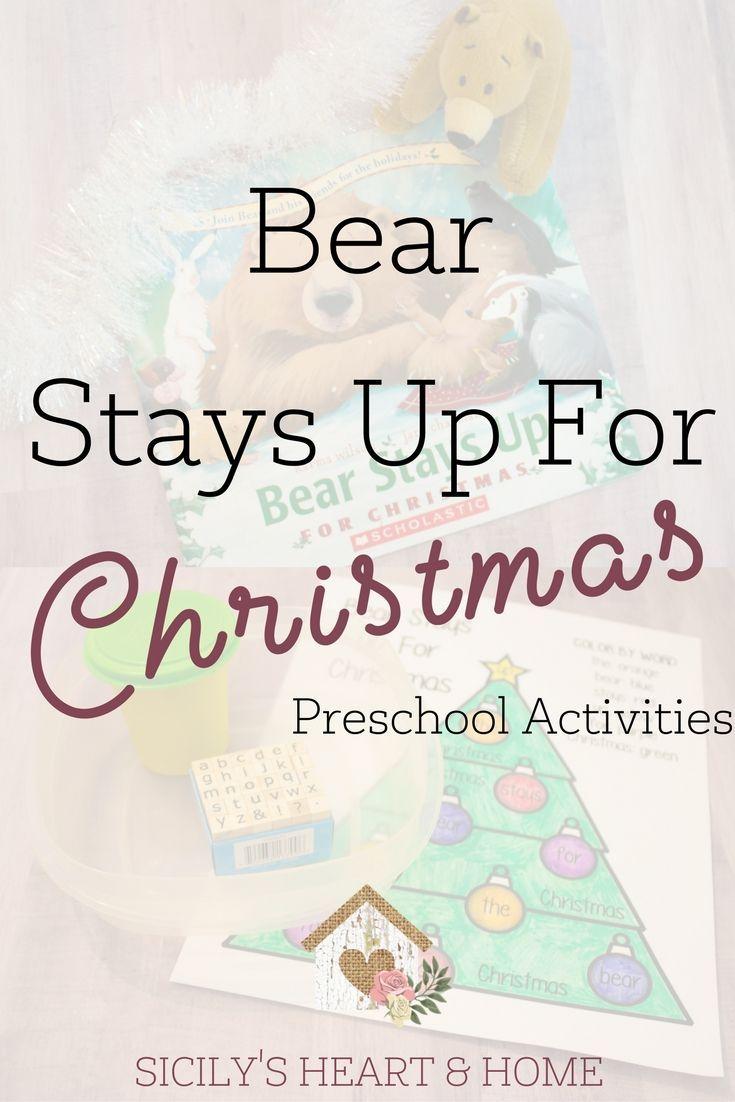 Bear Stays Up For Christmas Activities | Preschool Christmas