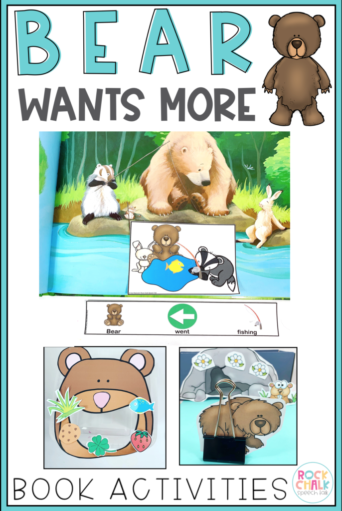 Bear Wants More Book Activities | Speech Therapy Book