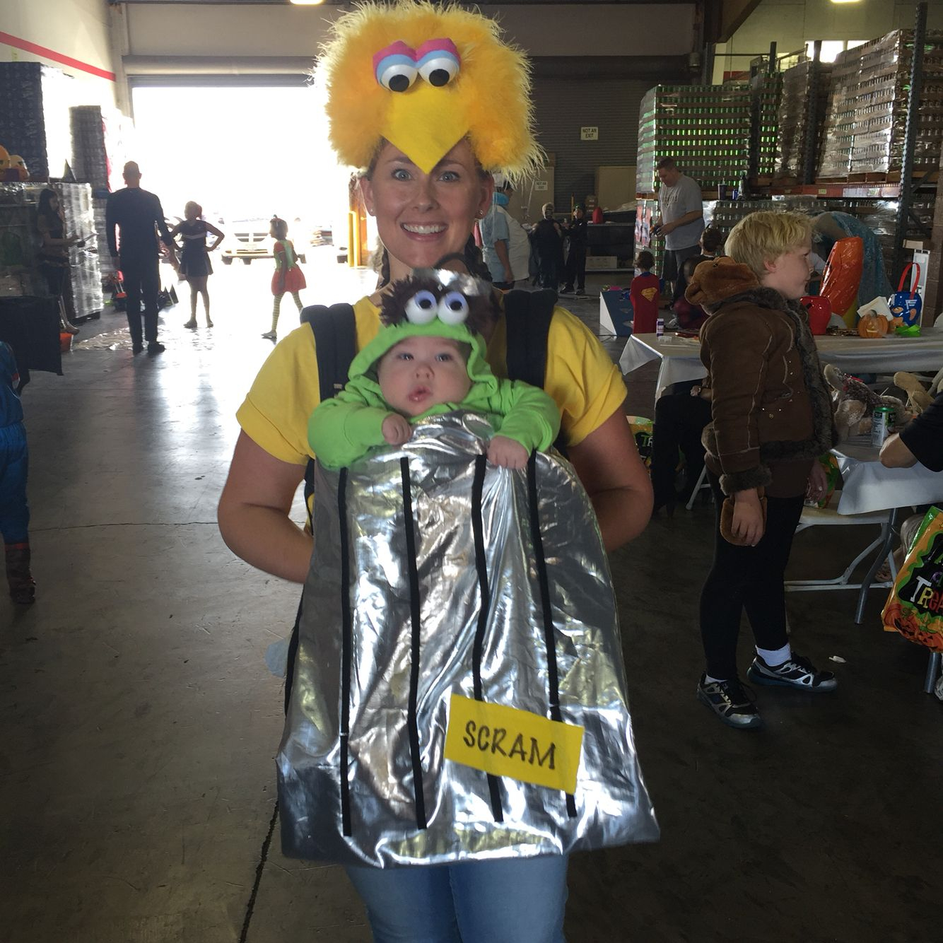 Big Bird And Oscar The Grouch Baby Carrier | Costumes, Oscar