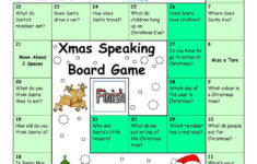 Board Game – Christmas & Santa | Christmas Worksheets