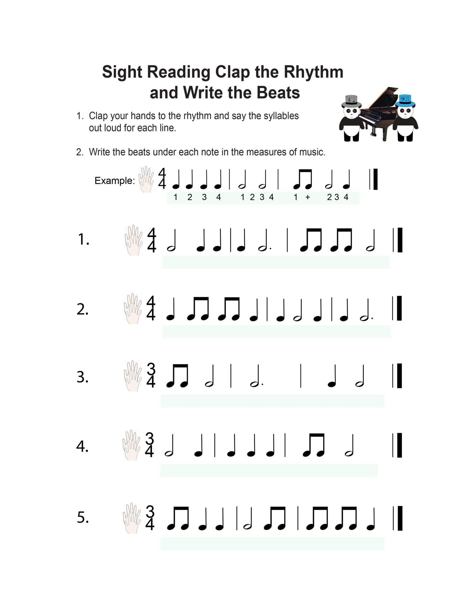 Book Piano Lesson Music Worksheets Pandastic Designs