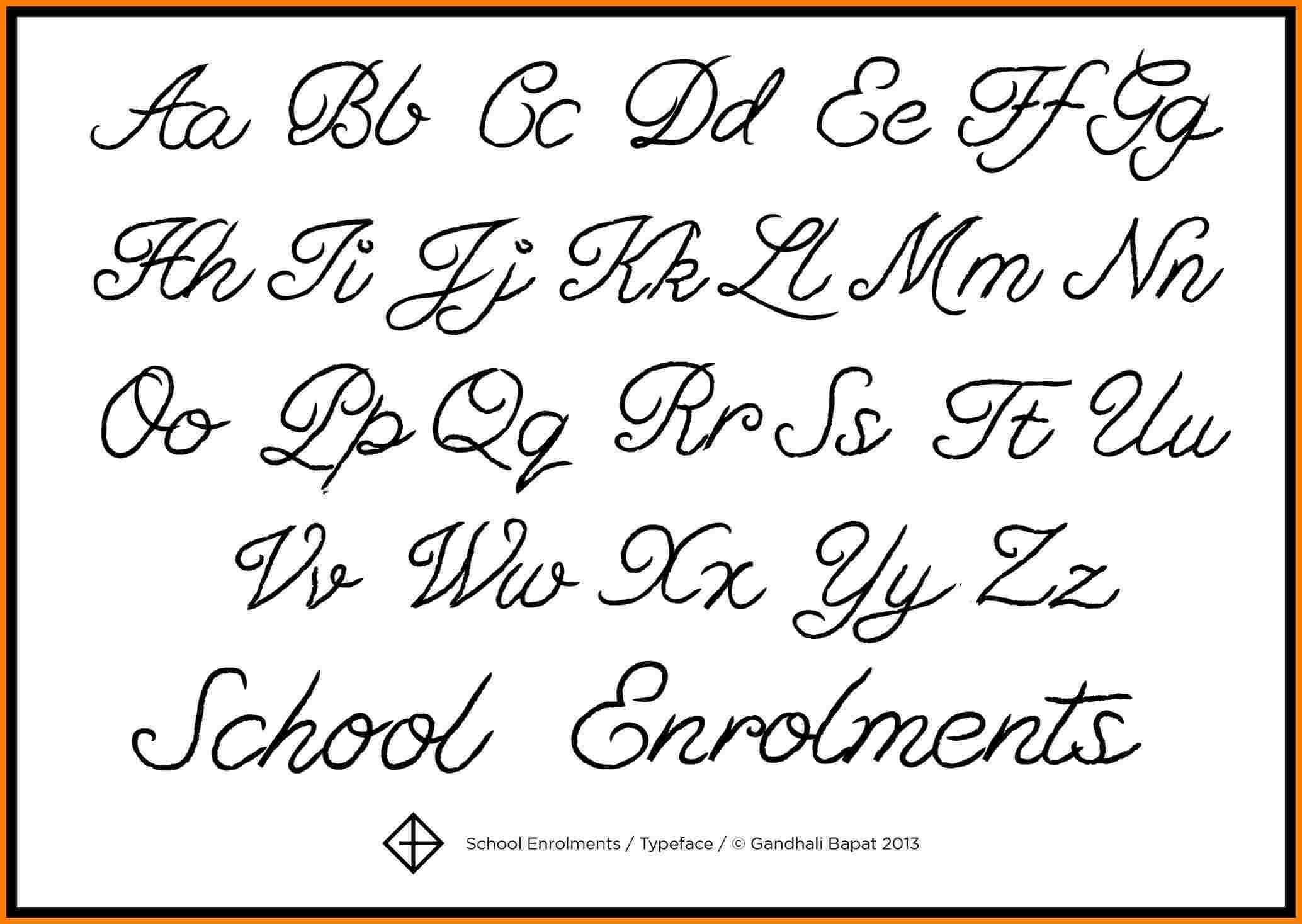 Calligraphy Script Lettering A Z Lovely Fancy Cursive