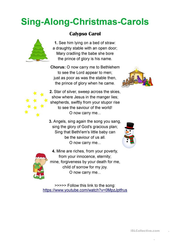 Calypso Carol   Sing Along Christmas Songs   English Esl