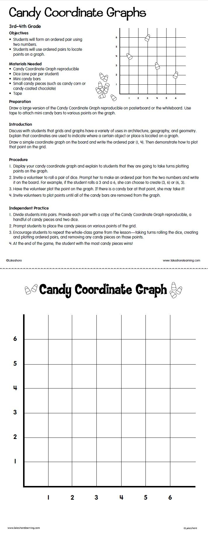 Candy Coordinate Graphs At Lakeshore Learning | Coordinate