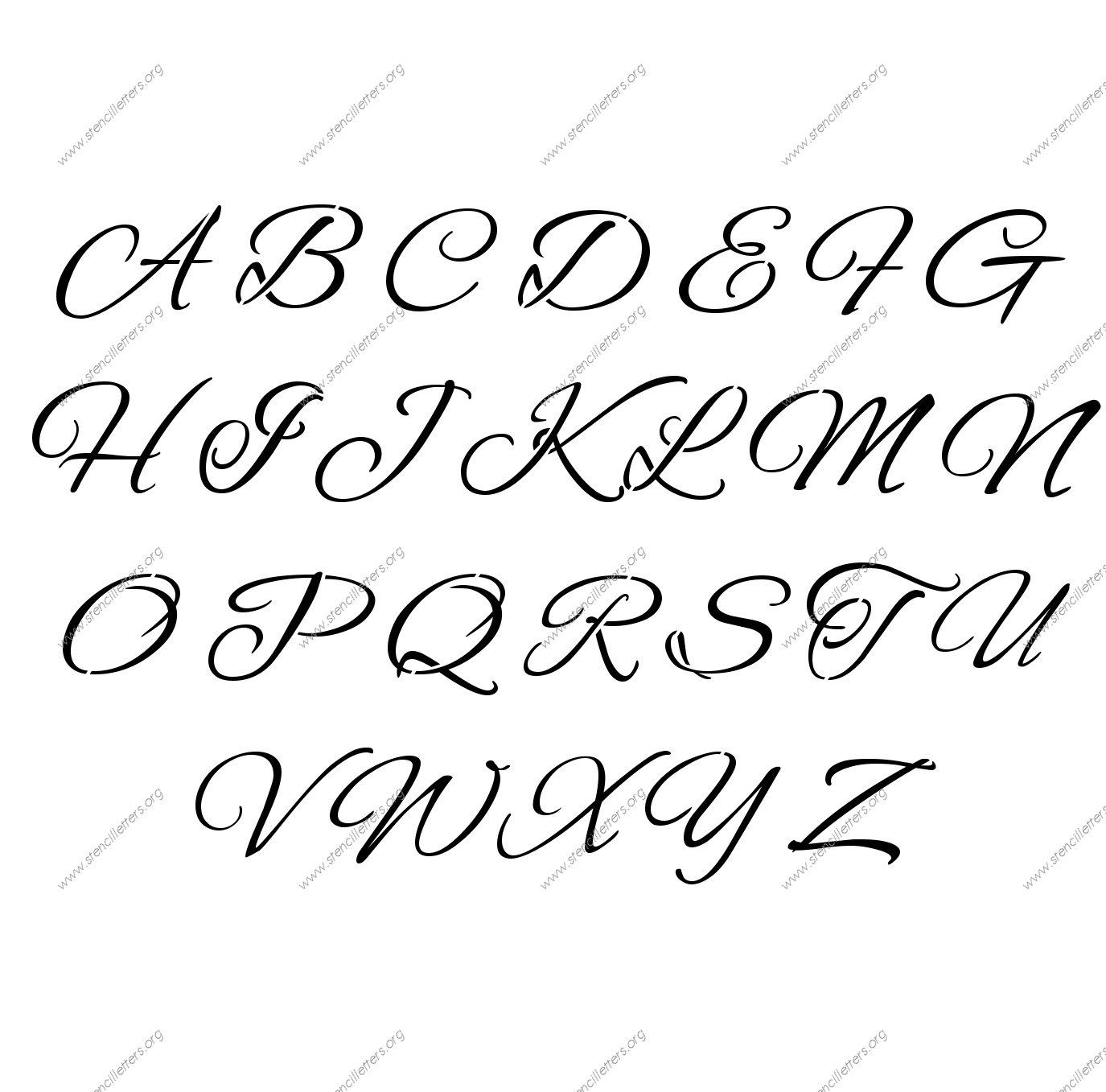 Capital A To Z In Cursive Writing