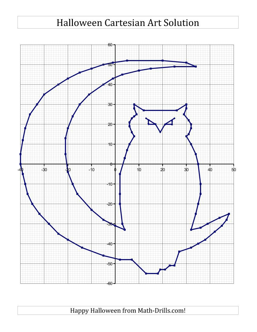 Cartesian Art Halloween Owl Halloween Math Worksheet