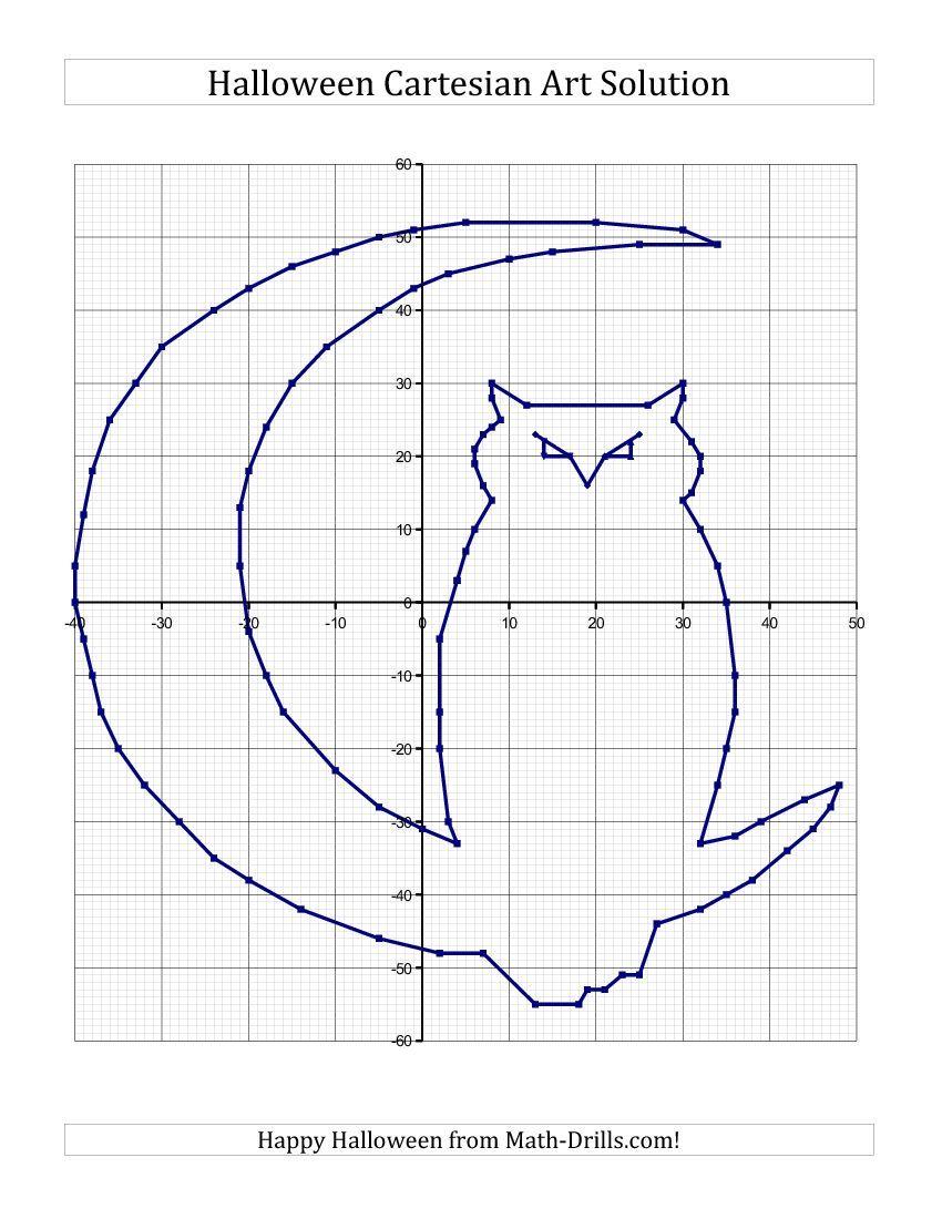 Cartesian Art Halloween Owl Halloween Math Worksheet
