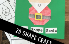 Christmas 2D Shape Paper Crafts | Christmas Kindergarten