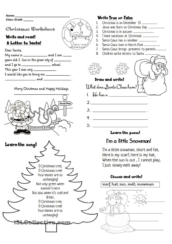 Christmas Activities | Christmas Worksheets, Christmas