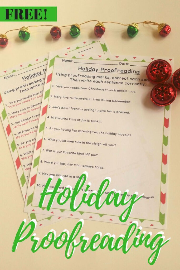Christmas Activities Sentence Editing | Proofreading