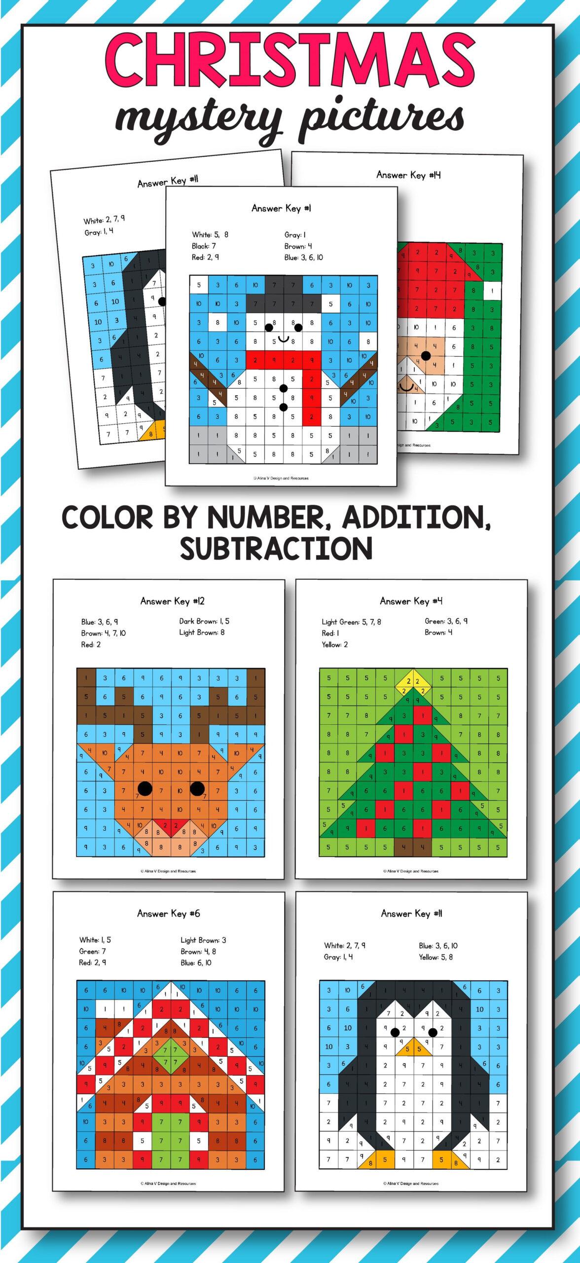 Christmas Addition And Subtraction   Christmas Math Mystery