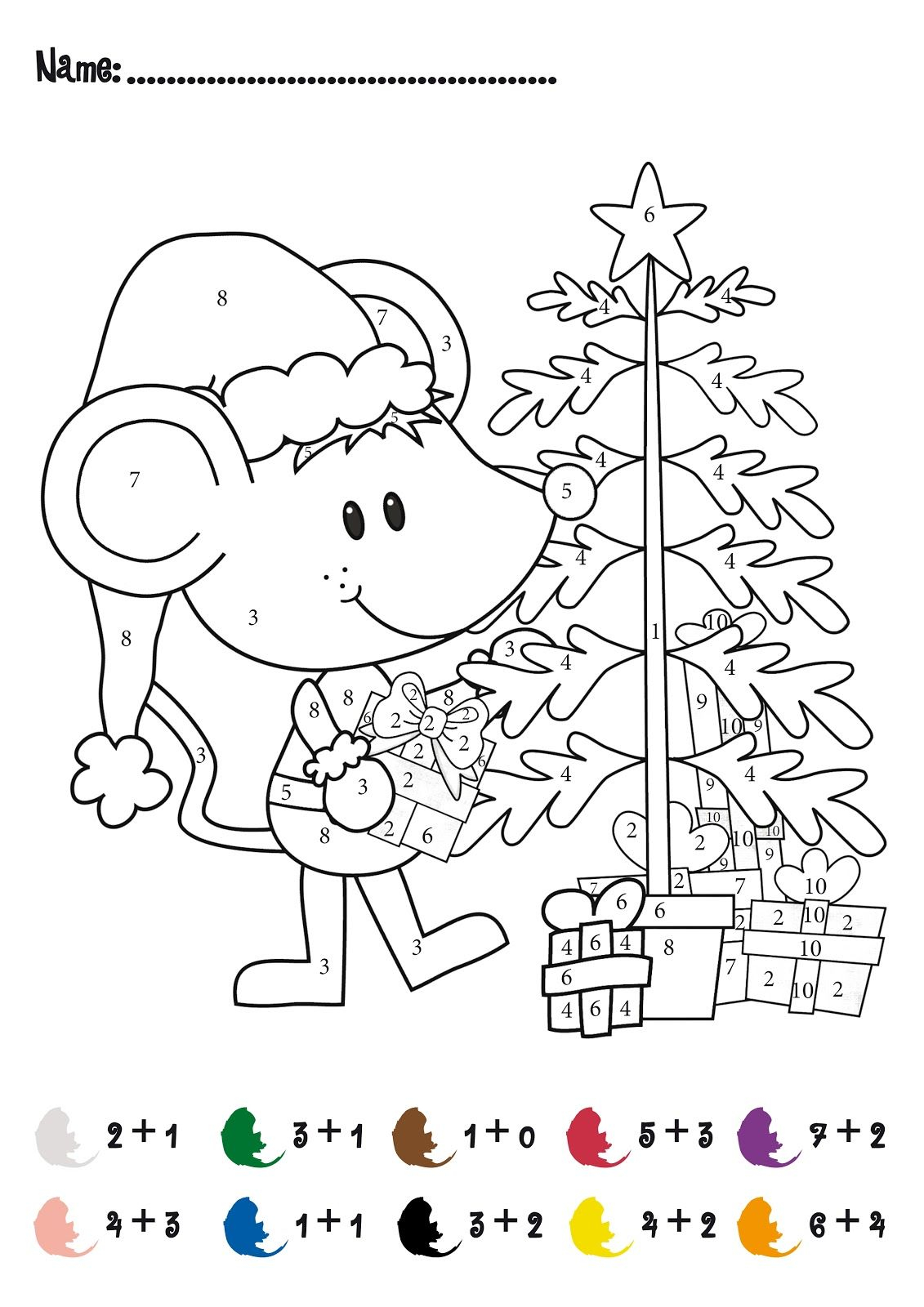 Christmas Addition Math Activity Free For Pre And