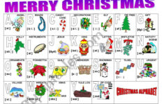 Christmas Alphabet – Esl Worksheetmilagrin