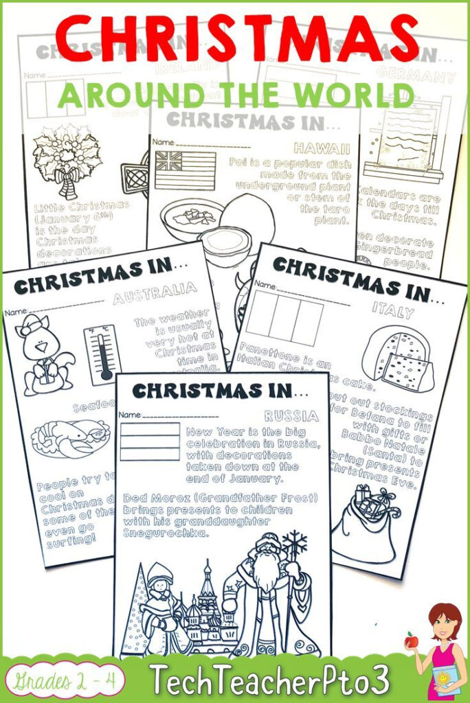 Christmas Around The World Coloring Notes   Holiday Lessons