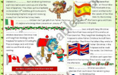 Worksheets Christmas Around The World