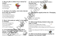 Christmas Around The World – Esl Worksheetproflp