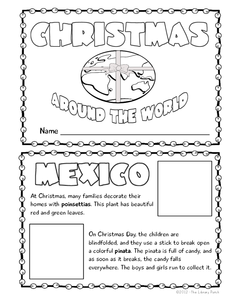Christmas Around The World Mini Book Activity | Christmas