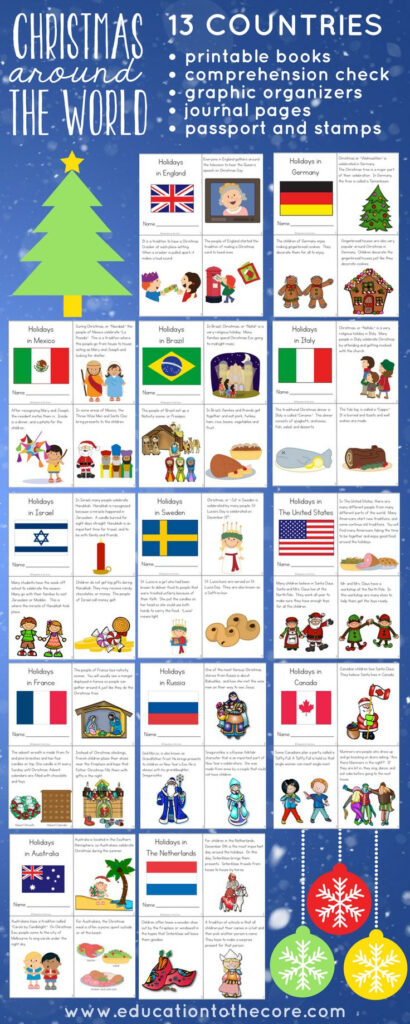 Christmas Around The World Unit. Complete With Printable