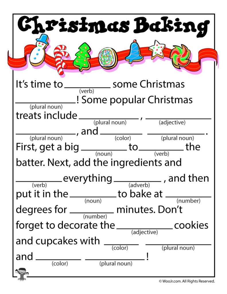 Christmas Baking Kid's Mad Libs   Woo! Jr. Kids Activities
